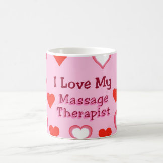 Hearts: Love My Massage Therapist Coffee Mug