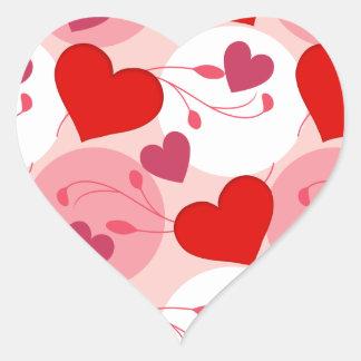 Hearts Love Romance Valentines Day Pink Feminine Heart Sticker