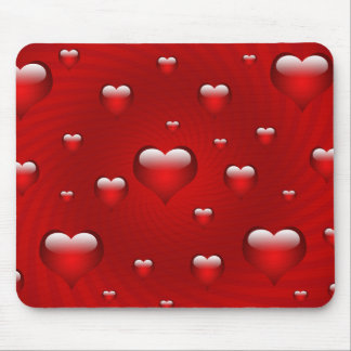 Hearts Love Theme Mouse Mat