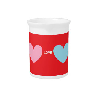 Hearts Love You Beverage Pitchers