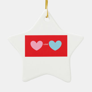 Hearts Love You Christmas Ornament