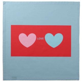 Hearts Love You Napkin