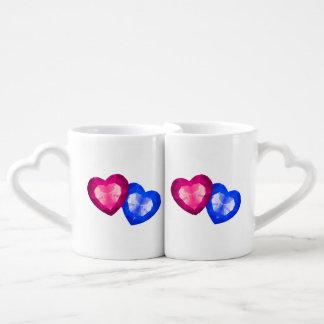 Hearts Lovers' Mug Set Couples' Coffee Mug Set