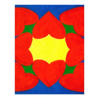 Hearts Mandala of Love Personalized Flyer