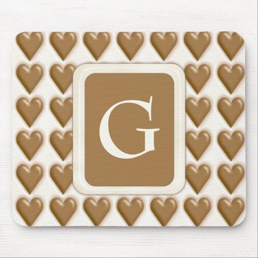 Hearts - Milk Chocolate and White Chocolate Mousepad