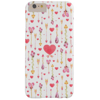 Hearts 'n' Arrows Valentine's Day Barely There iPhone 6 Plus Case