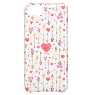 Hearts 'n' Arrows Valentine's Day iPhone 5C Case