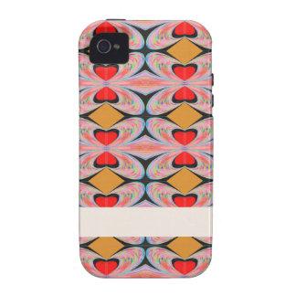 Hearts n Diamonds Enjoy n Share Joy Case-Mate iPhone 4 Covers