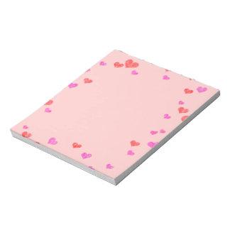 Hearts Notepad