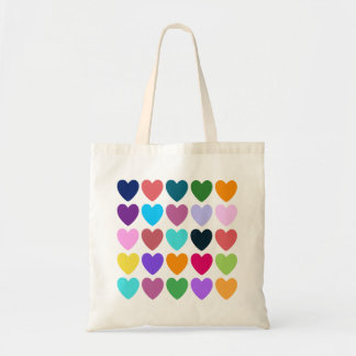 Hearts of All Kinds Budget Tote Bag