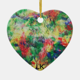 hearts of color christmas ornament