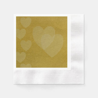 Hearts of Gold Paper Napkins