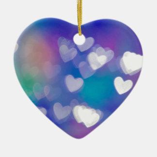 Hearts of light ceramic heart decoration
