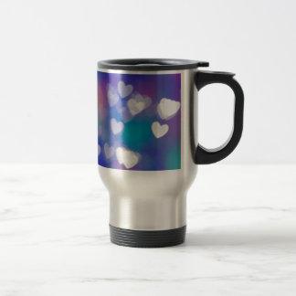Hearts of light travel mug