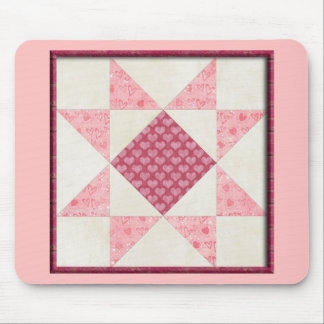 Hearts of Love Quilt Mousepads