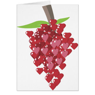 Hearts of My Love For You Grapes Valentine Card