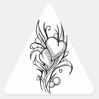 Hearts of Soul Mates Triangle Sticker