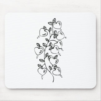 Hearts on a Vine Mouse Pads