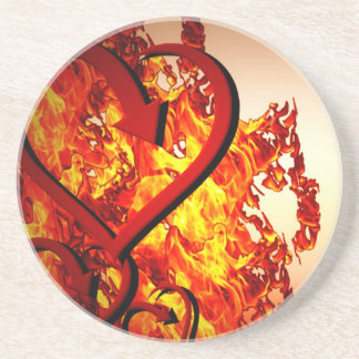 Hearts on fire coaster
