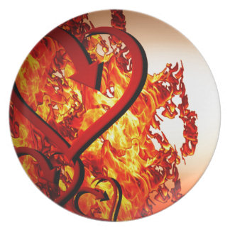 Hearts on fire plate
