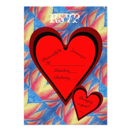 Hearts on Fire Romantic Valentines Day RSVP Announcement