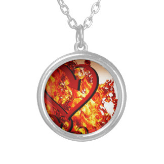 Hearts on fire silver plated necklace