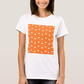 Hearts on Orange T-Shirt