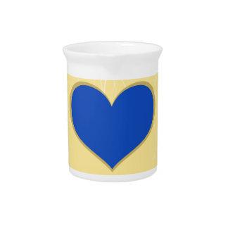 Hearts on Swirls Beverage Pitchers