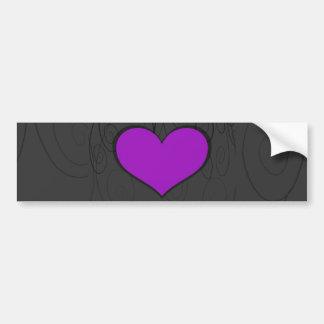 Hearts on Swirls Bumper Stickers