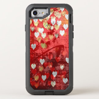 Hearts OtterBox Defender iPhone 8/7 Case