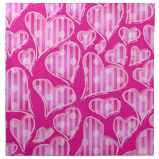 Hearts papers napkin