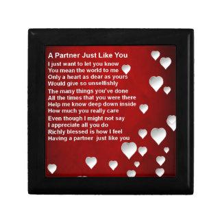 Hearts  Partner Poem Gift Box