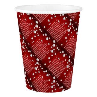 Hearts  Partner Poem Paper Cup