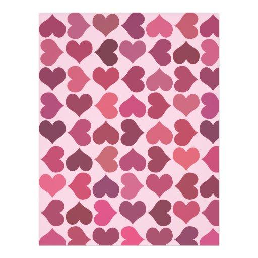 Hearts Pattern Custom Flyer