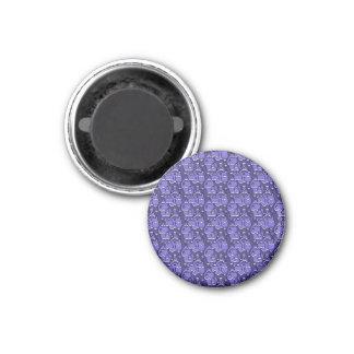 Hearts Pattern Iris blue 1 Inch Round Magnet