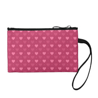 Hearts Pattern Pink & Red (Love & Valentine) Coin Wallet