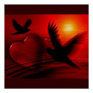 Hearts Peace Love Birds Destiny Wedding Shower