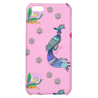 Hearts & Peacocks - Pink & Cyan Delight Cover For iPhone 5C