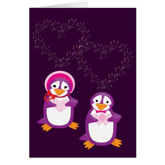 Hearts & Penguins Card