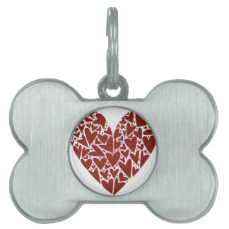 Hearts Pet Name Tags