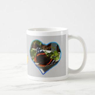 Hearts Photo Coffee Mug Grey