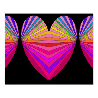 Hearts Pink Poster