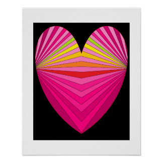 Hearts Pink Poster 3