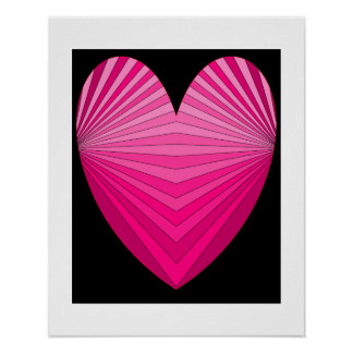 Hearts Pink Poster 4