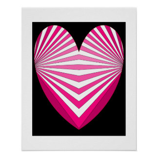 Hearts Pink Poster 5