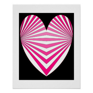 Hearts Pink Poster 6
