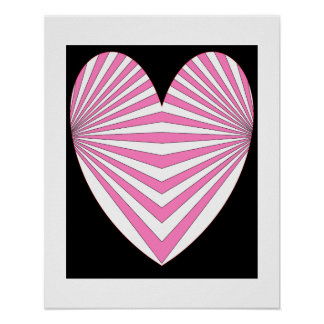Hearts Pink Poster 7