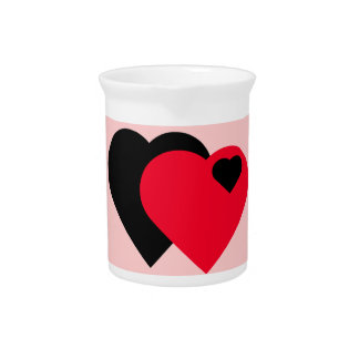 Hearts Beverage Pitchers
