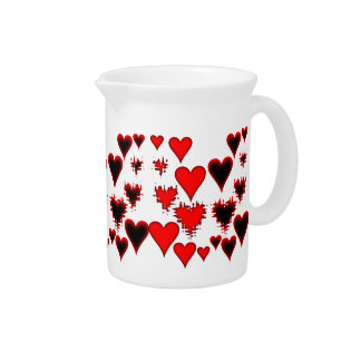 Hearts Drink Pitcher