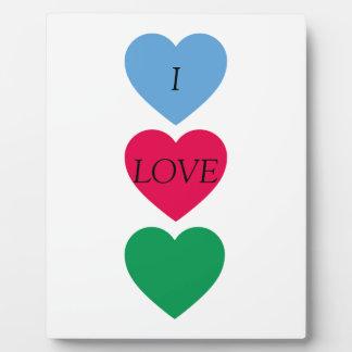 Hearts Plaque